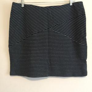 Blue & White Striped Skirt by J. Jill